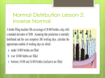Normal Distribution Lesson 2: Inverse Normal