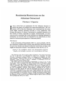 Residential Restrictions on the Athenian Ostracized