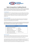 Body Composition: Building Muscle