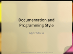 Documentation and Programming Style