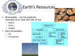Earth`s Resources