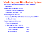 Marketing and Distribution Systems
