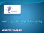 How to get into Digital Marketing SaucyHorse.co.uk