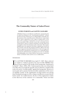 The Commodity Nature of Labor-Power