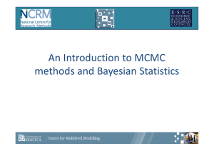 An Introduction to MCMC methods and Bayesian