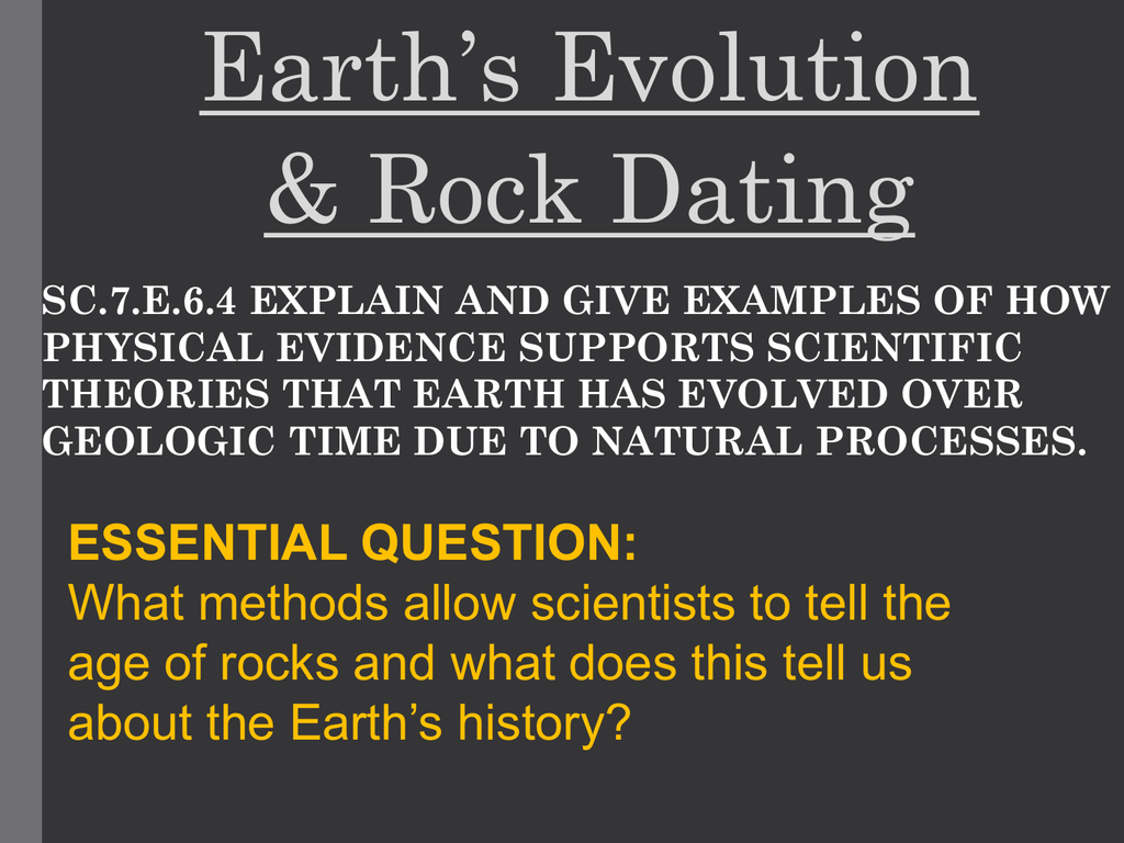 chapter 21.2 relative age dating of rocks