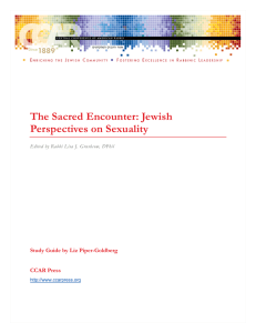 The Sacred Encounter: Jewish Perspectives on
