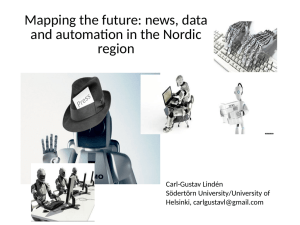 Mapping the future: news, data and automation in the Nordic region