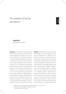 The evolution of lactase persistence