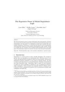 The Expressive Power of Modal Dependence Logic