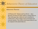 Behaviorist Theory of Education
