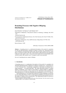Branching Processes with Negative Offspring Distributions