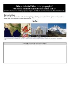 India`s Location and Geography - Mrs. Reif`s History Classes