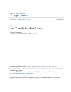 John Guare: In Search of America.
