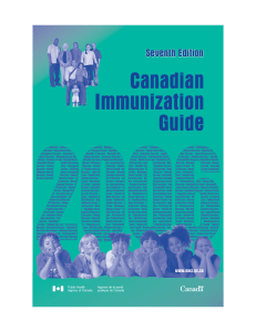 Canadian Immunization Guide