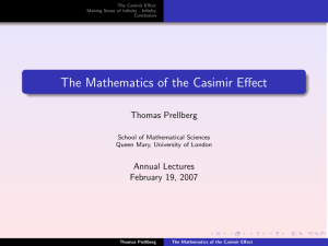 The Mathematics of the Casimir Effect