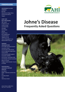 Johne`s Disease - Animal Health Ireland