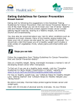 Eating Guidelines for Cancer Prevention: Breast