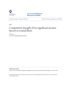 Competition strength of two significant invasive