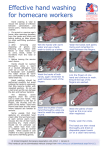 Effective hand washing for homecare workers