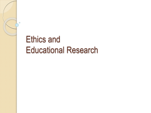 Ethics and Educational Research