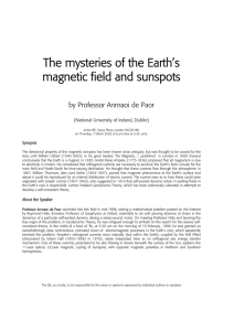 The mysteries of the Earth`s magnetic field and sunspots