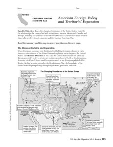 American Foreign Policy and Territorial Expansion