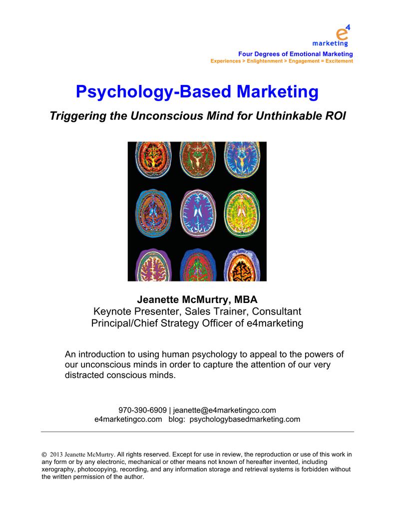 Psychology-Based Marketing