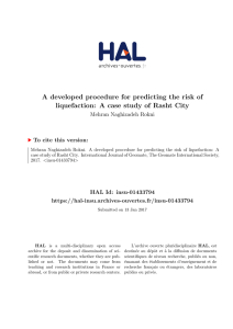 A developed procedure for predicting the risk of liquefaction: A case