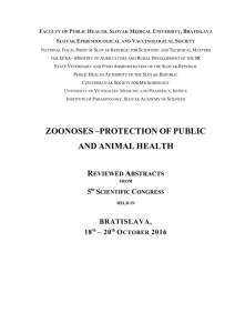 ZOONOSES –PROTECTION OF PUBLIC AND ANIMAL HEALTH