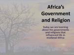 Africa`s Government and Religion
