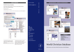 WCD Brochure - World Christian Database
