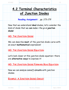 4.2 Terminal Characteristics of Junction Diodes