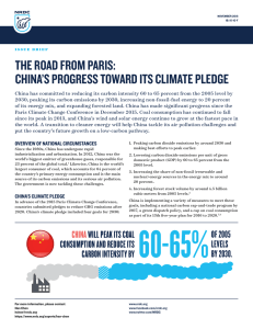 China Climate Pledge