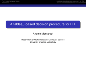 A tableau-based decision procedure for LTL