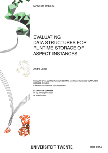 Evaluating Data Structures for RuntimeStorage of Aspect Instances