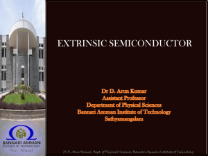 extrinsic semiconductor