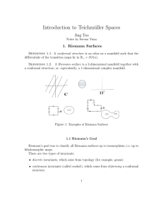 Introduction to Teichmüller Spaces