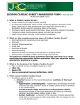 SUDDEN CARDIAC ARREST AWARENESS FORM – derived from