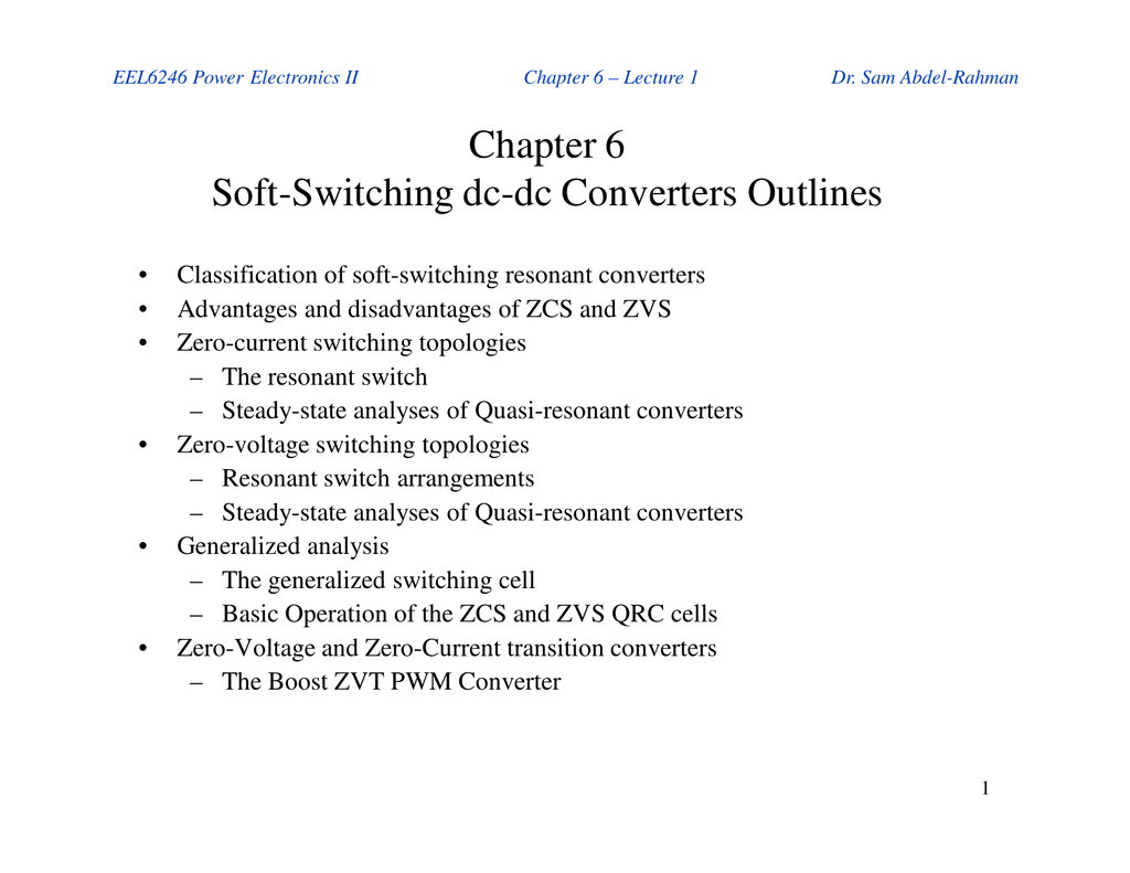 Chapter 6 Soft Switching Dc Voltage