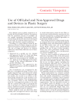 Use of Off-Label and Non-Approved Drugs and Devices in Plastic