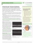 Vitreomacular Traction Syndrome - The American Society of Retina