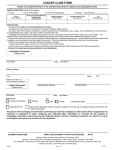 cancer claim form - Snohomish County