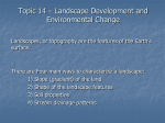 Topic 14 – Landscape Development and Environmental Change