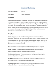 Singularity Essay Guidelines File