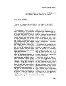 LOUIS JACOBS` DOCTRINE OF REVELATION tainted