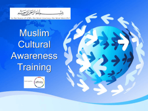 Muslim Cultural Awareness Training