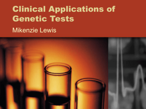 Clinical Applications of Genetic Test