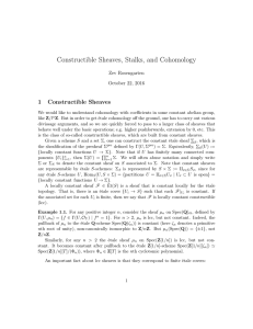 Constructible Sheaves, Stalks, and Cohomology