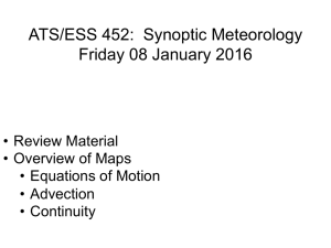 ATS/ESS 452: Synoptic Meteorology Friday 08 January 2016